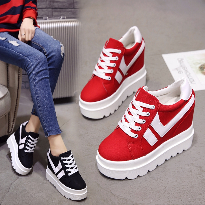 Nice New Korean Fashion Wild Super High Heels Shoes Breathable Comfort Thick Bottom Casual Shoes Women Single Shoes 1