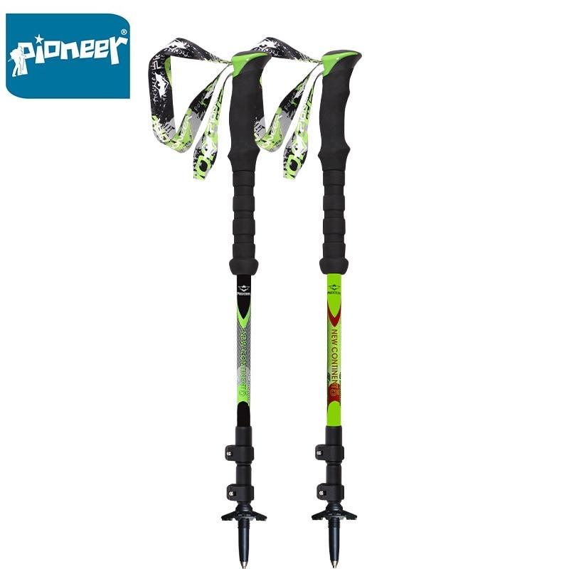 Pioneer 100 Carbon Fiber Trekking Poles Quick Lock Walking Sticks for Trail Hiking Walking Climbing 2