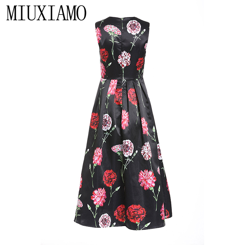 MIUXIMAO 2019 New Fashion Runway Summer Dress Women
