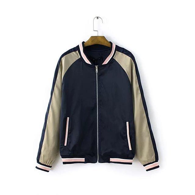 Весной Новый Европейский Станция Тяжелая Вышитые Шелковые Куртки Тонкий Моды Бейсбол Куртка Женщина