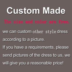 Image 5 - Robe de mariée style sirène avec ceintures, grande taille, perles, décolleté, demi manches, dos nu, avec applications, sur mesure
