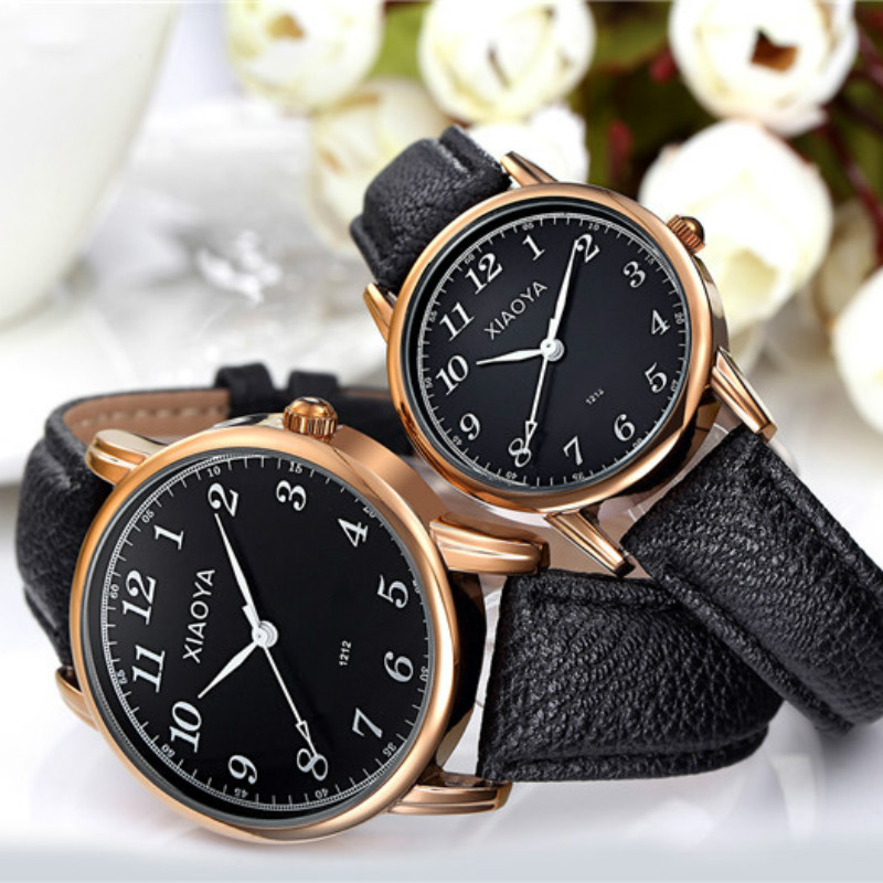 Hot Sell Watchband Pair Watch Female Male Watches Lover's Watches 4style Rose Gold Watch With Leather Strap Reloj Mujer Reloj Ho