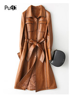 PUDI A28214 2019 New women dress style genuine sheep leather coat lady simple style Jacket fall/winter coat