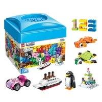 460 шт., Обучающие объемные DIY творческие строительные блоки, кирпичи, обучающие игрушки для детей, подарок на Рождество, совместимы с Legoings