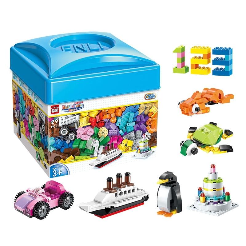 Enlighten 2901 460 Uds. A granel bloques de construcción creativos DIY juguetes educativos para niños regalo de Navidad juguetes legoings