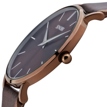 SINOBI Super Slim Quartz Wristwatch Males Business Genuine Leather Casual Quartz Watches Men and Women s