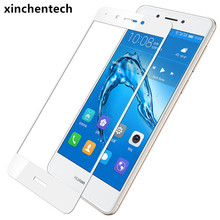 ФОТО full coverage for huawei honor 6c case tempered glass film 9h ultrathin premium screen protector cover for honor6c 5.0inch