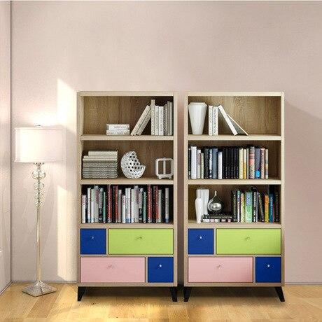 Bookcases Living Room Furniture Home Kids Bookshelf Wood Storage Cabinet Display Book Stand Modern 76 5 29 159 Cm