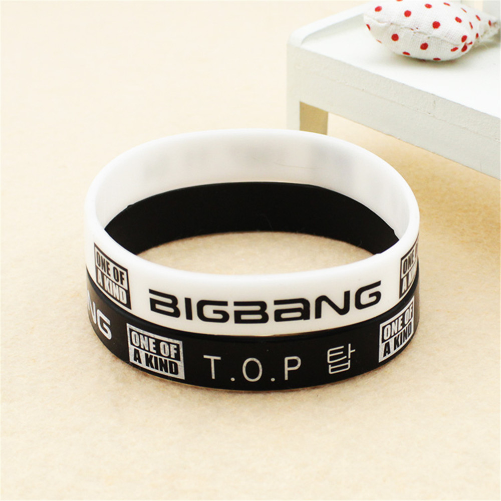 Wholesale KPOP Bigbang TOP T.O.P one of a kind Choi Seung Hyun jelly Men or Women bracel ...