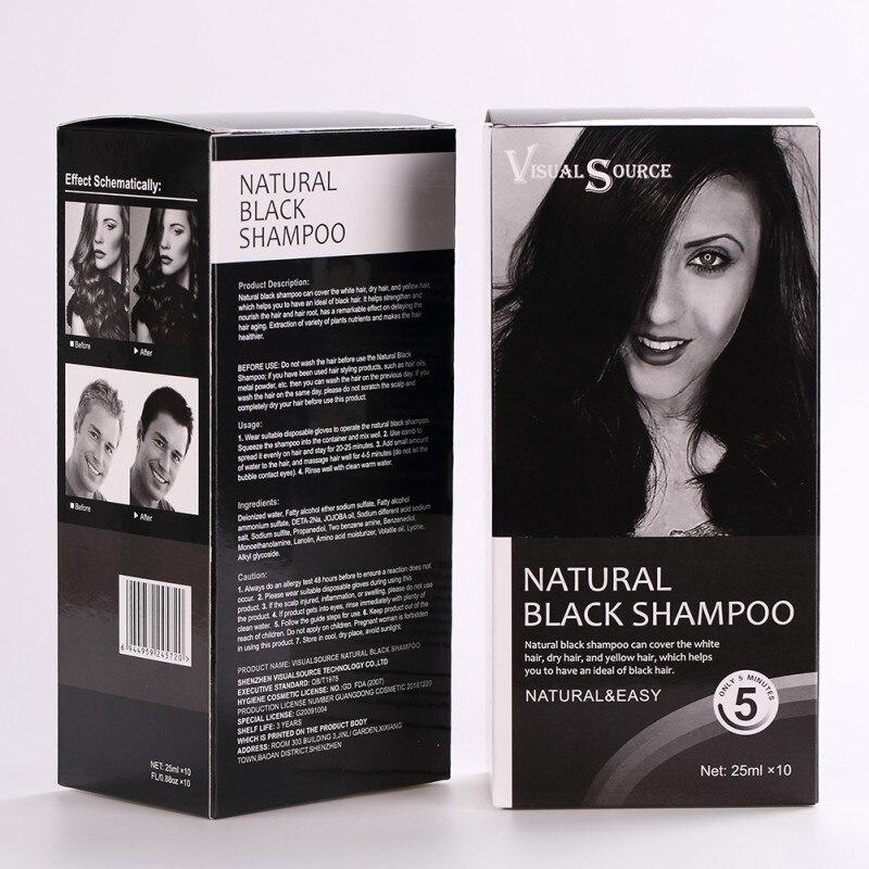 10pcs/set Makeup Black Hair Shampoo Hair Color Black Fast Hair Dye ...