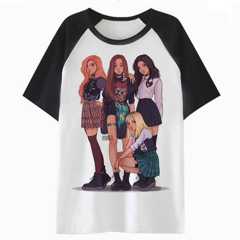 Blackpink t shirt clothing femme cartoon tops t-shirt female graphic tee tshirt women harajuku kawaii K4080