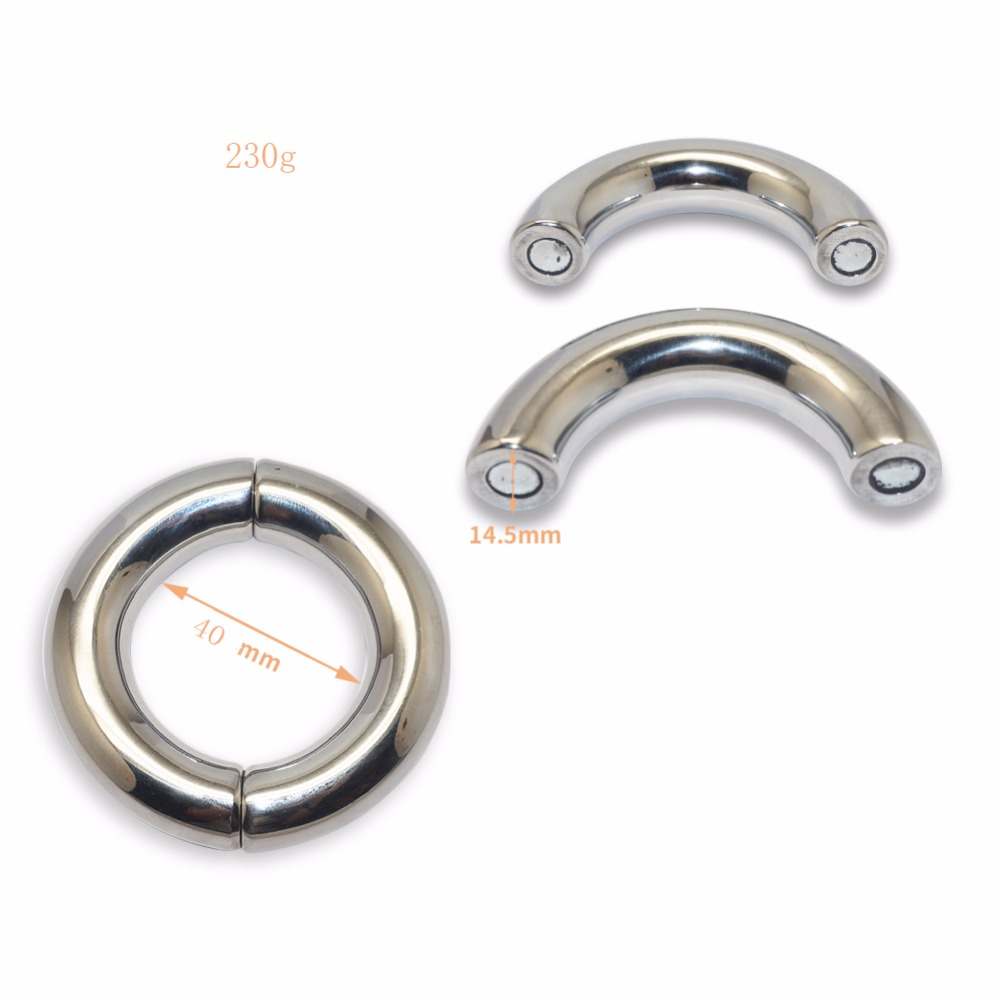 Heavy Duty Magnetic Stainless Steel Ball Scrotum Stretcher Metal Lasting Cock Ring For Men Delay Penis Ring Sex Toy Sex Shop phallus pendant delay cock ring stainless steel penis ring cockring ball stretcher adult sex toys for men sex toys for couples 7