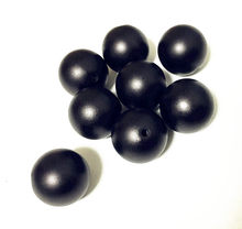 (choose size) 12mm/16mm/20mm black color Acrylic Matte pearls Beads for Colorful Chunky Beads Necklace Jewelry(China)