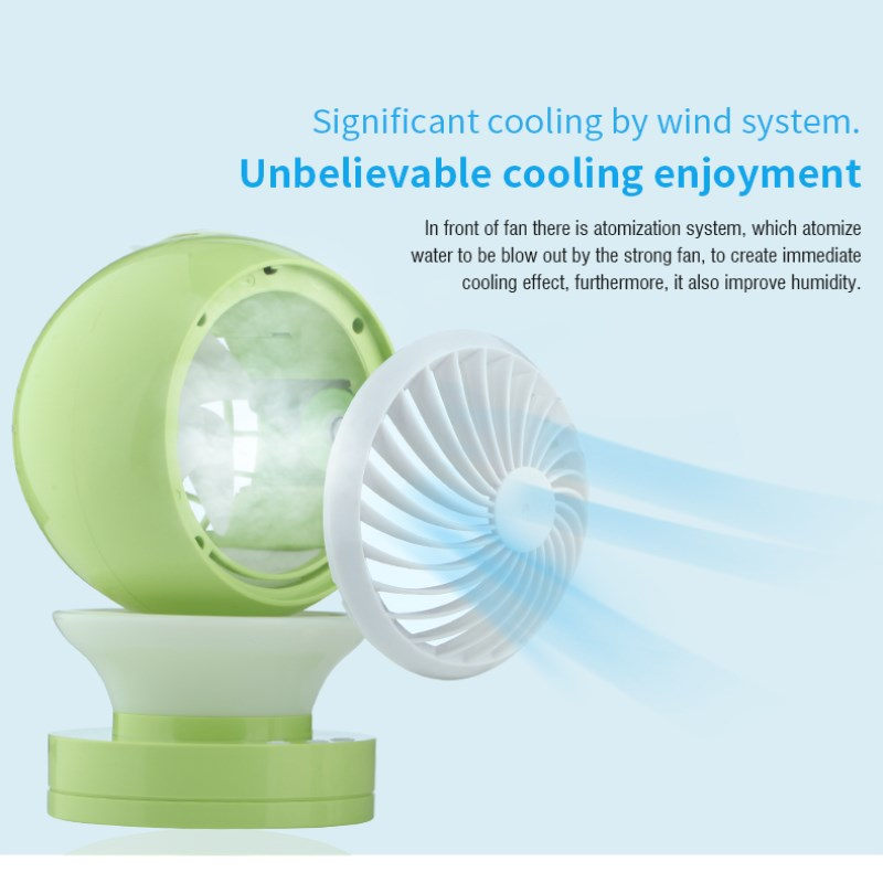 New Arrival Mini Summer Portable USB Humidifier Fan Office Desk Air Conditioner Third Gear Speed Fans USB Computer Switch original xiaomi portable usb mini fan