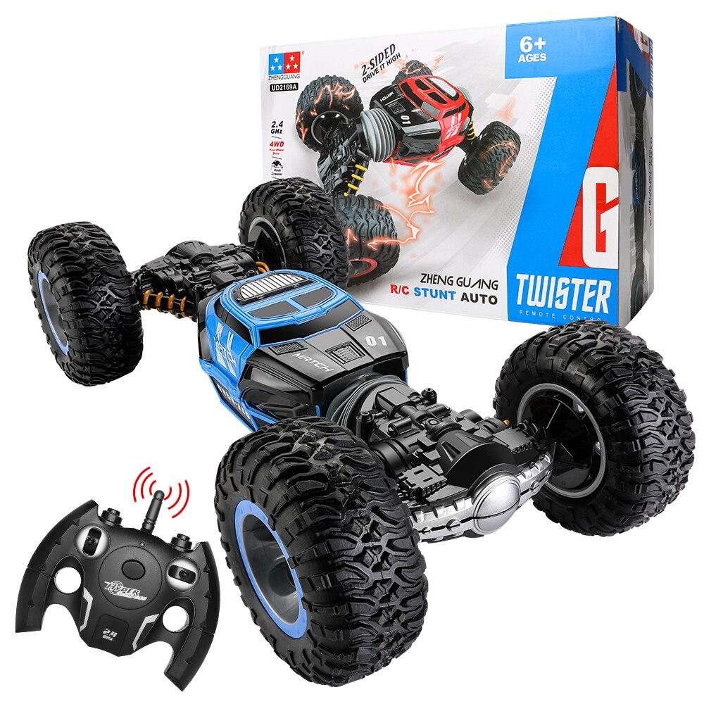 1/16 4WD électrique RC dérive voiture Rock chenille télécommande jouet 2.4G radiocommandé 4x4 conduire hors route voiture jouets pour garçons cadeau - 2