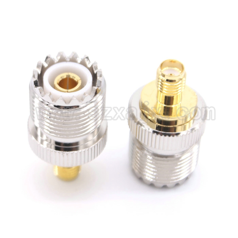 JX Wholesale 50pcs UHF SO239 to SMA RF coaxial coax adapter UHF female SO 239 to