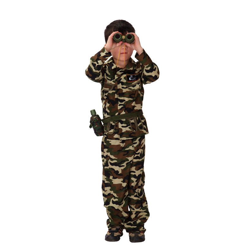 aliexpresscom buy boys halloween army camouflage uniform costume kids soldier cosplay children special forces role play carnival purim party dress from - Boys Army Halloween Costumes