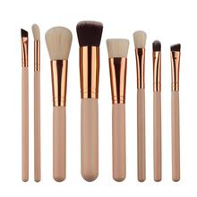 Beauty Girl Hot Professional 8Pcs Mini Cosmetic Eyebrow Eyeshadow Brush Makeup Brush Sets Kits Tools Nov 3