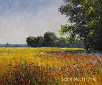Buy art canvas online Oat Fields Vincent Van Gogh reproduction paintings Hand painted High quality