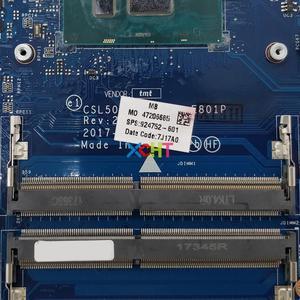 Image 3 - 924752 601 924752 001 hp 노트북 15 bs 시리즈 15t br000 노트북 pc 마더 보드 메인 보드 용 uma LA E801P w i7 7500U cpu