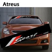 Atreus Car Front Window Windshield SPORT Stickers For Nissan qashqai Citroen c4 c5 c3 Chevrolet cruze Peugeot 307 Mazda 3 6