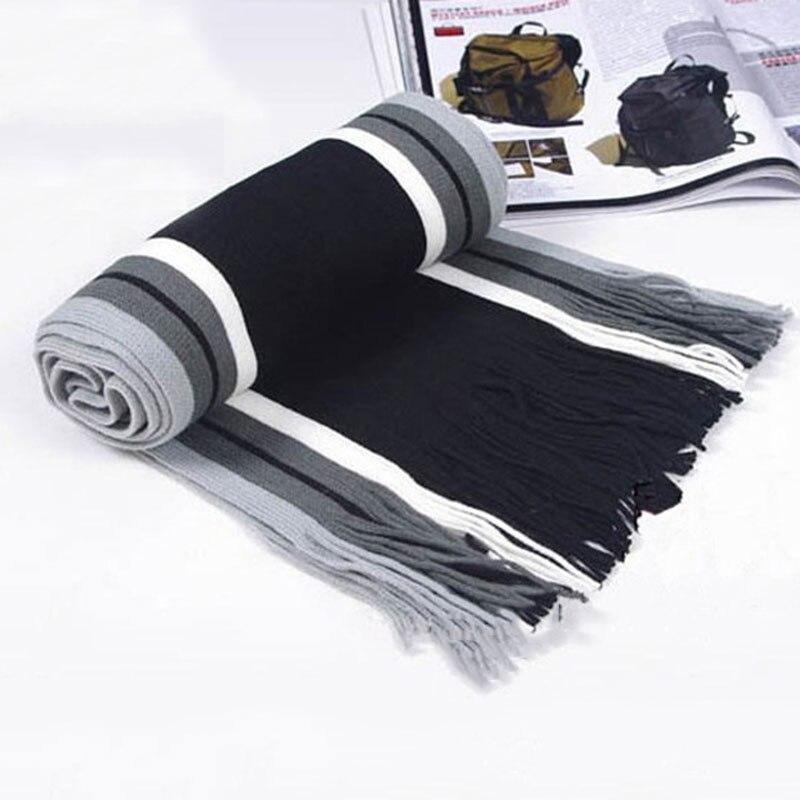 Fashion Winter Warm Men's Scarf Classical Striped Artificial Scarf Men Tassels Scarf Long Pashmina Shawl Scarf HSJ88