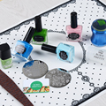 1Pc Silicone Nail Art Table Mat Pad Lace Dot Mirror Pattern Foldable Washable Nail Art Manicure Tool