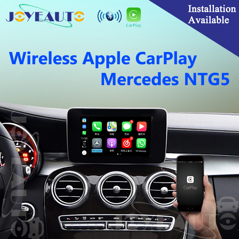 Aftermarket Sans Fil OEM Apple CarPlay Rénovation Mercedes Classe C W205 GLC X253 15-17 NTG5 Voiture Play Interface avec caméra de recul