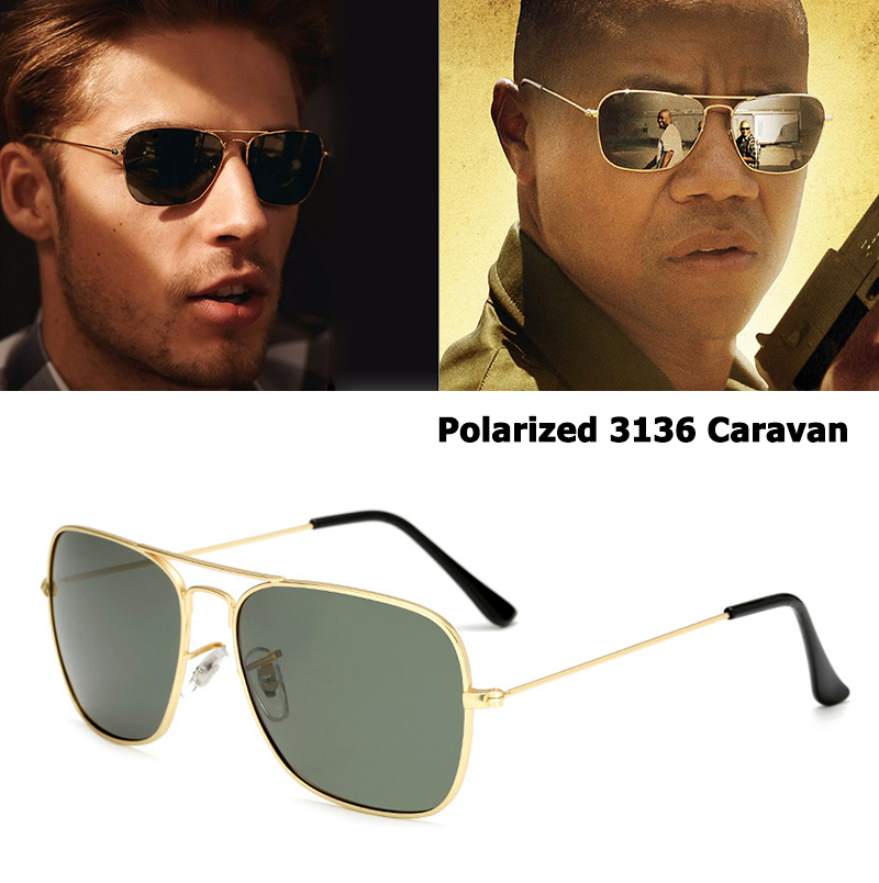 JackJad Classic 3136 CARAVAN Style Polarized Square Aviator Sunglasses Men Vintage Retro Brand Design Sun Glasses Oculos De Sol