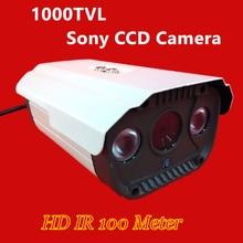 2016 НОВЫЙ Камеры ВИДЕОНАБЛЮДЕНИЯ 1/3 «SONY CCD 1000TVL HD ИК 100 м Водонепроницаемая камера Открытый безопасности видеонаблюдения Бесплатная доставка