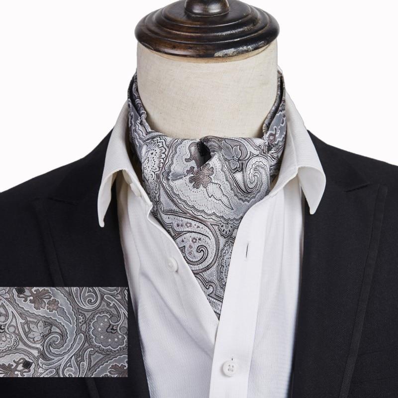 New Adult Mens Gold Satin Wedding Ruche Cravat Tie