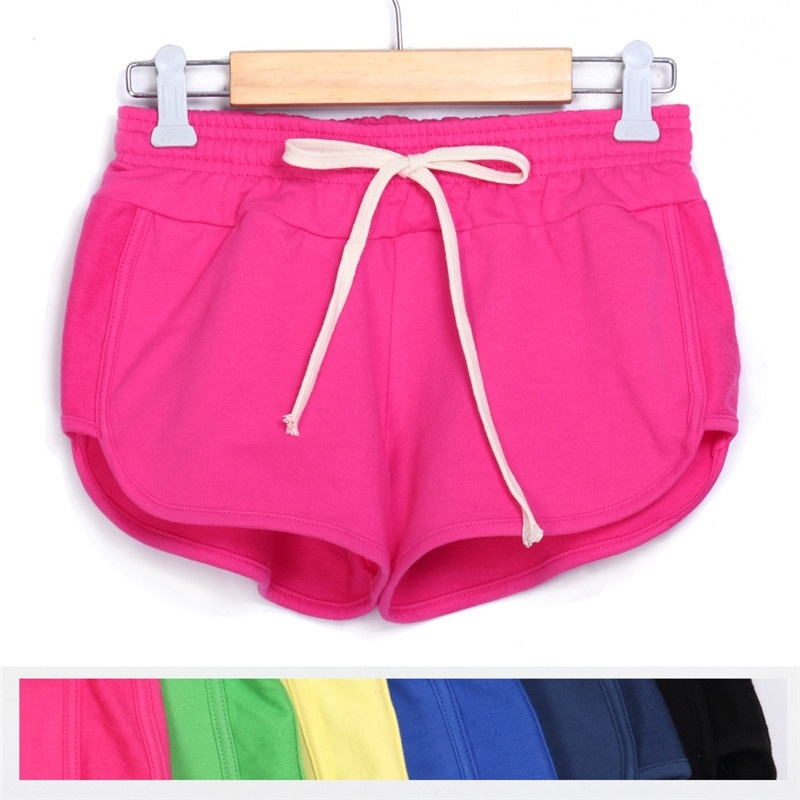 Women Sports Elastic Colors Fashion 2016 Waist Summer Girl Leisure 11   Shorts   Sexy Casual Fashion