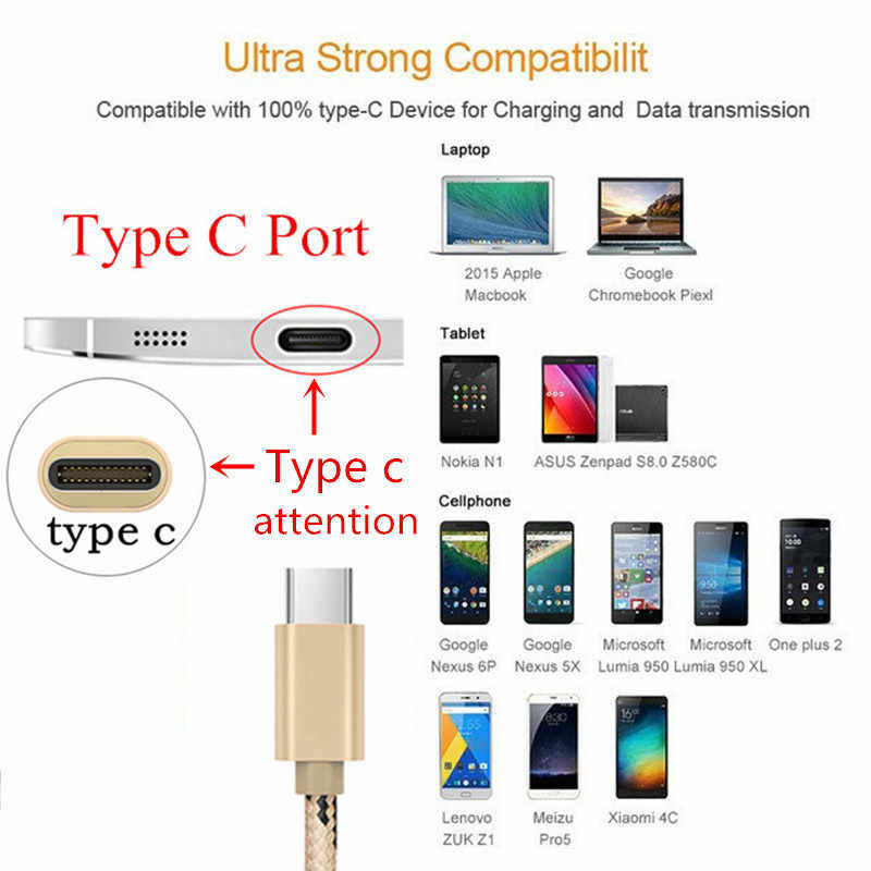 Voor huawei p20 honor 9 10 Galaxy s8 s9 s10 plus a8 2018 a8s voor Xiao mi mi a1 a2 9 8 6 5 ZTE Axon 7 Metalen Plug type C USB charger