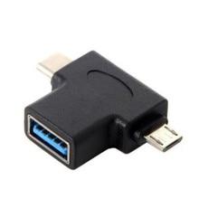 USB 3.1 Тип-C и микро USB2.0 Combo в 3.0 женский кабель OTG данных хост-адаптер
