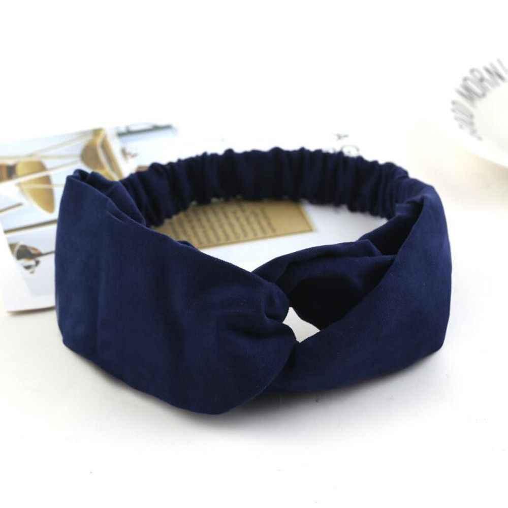 2019 женский головной убор клетчатый бант повязка на голову эластичная чалма головной убор женские аксессуары для волос полосатые ленты для волос