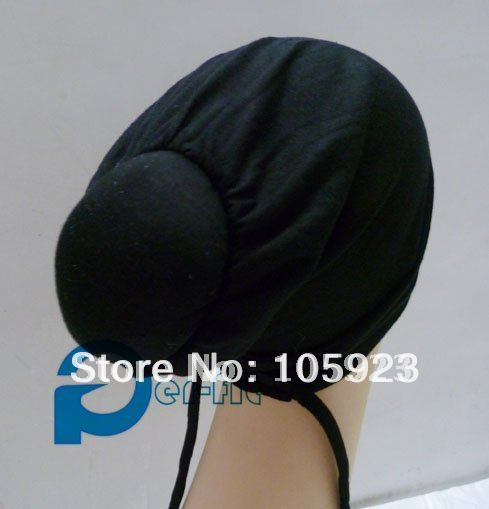 scrub chemo bonnet hijab hump Headwrap BLACK cancer hat under hijab  Hat Cap Chemo Bandana  12pcs/lot  free ship