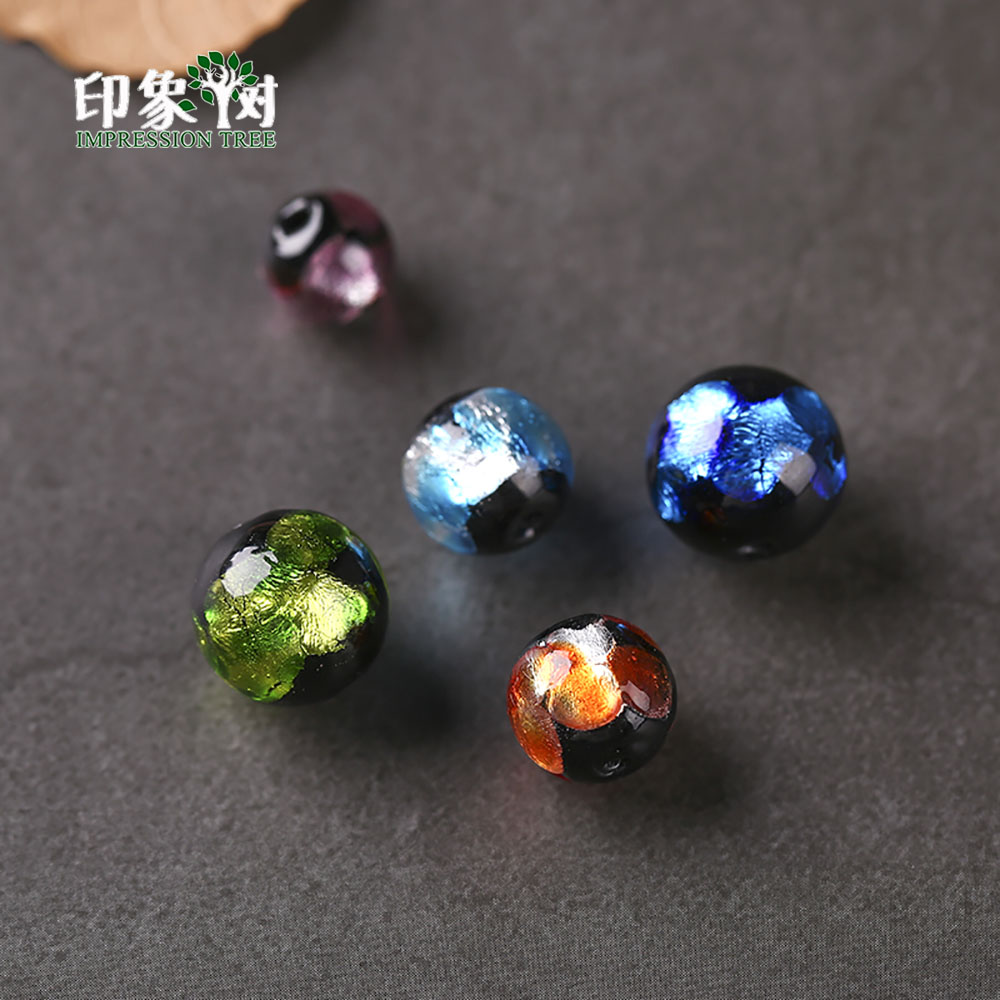 Radient 12mm 10pcs Sands Powder Handmade Lampwork Glazed Beads Transparent Japanese Crystal Round Spacer Beads Diy Jewelry Makings 1604 Jewelry & Accessories
