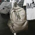 Женская мода ПУ Рюкзак для подростка девушки леди Школьные Сумки женские сумки на ремне, Студент Bookbag Mochilas Feminina X613