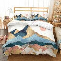 3D print Bedding set Mountain sunrise Valley Red Riding Bird frinds' gift bedding sheet Duvet cover set Home Textiles
