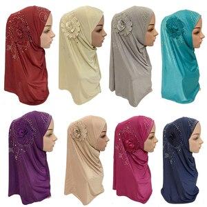 Image 1 - Islamitische Dames Hoofd Sjaal Hoofddeksels Moslim Hijab Innerlijke Cap Wrap Shawl Sjaal Ramadan Arabische Amira Hoofddoek Volledige Cover Tulband Hijab