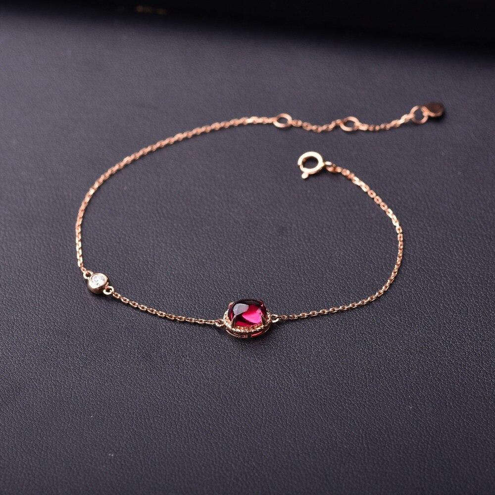 Tourmaline rouge 18 K or incrusté couleur pierre gemme Ellipse surface de coupe lisse