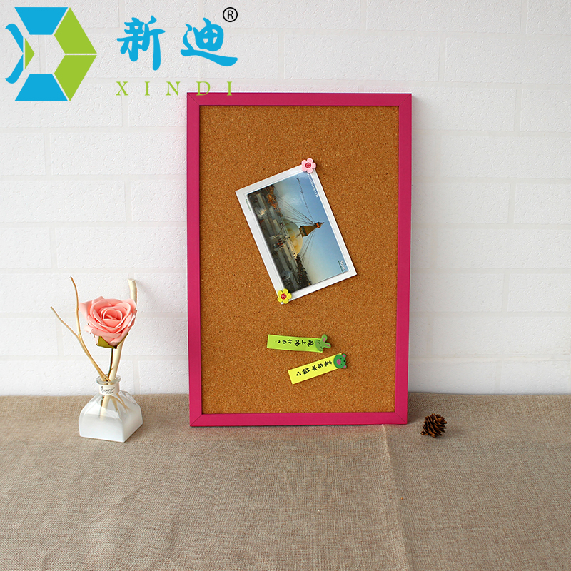 XINDI 2018 Bulletin Cork Board 60*45cm High Quality MDF Wood MDF Framed Message Notes Cork Pin Board Cork With Free Accessories