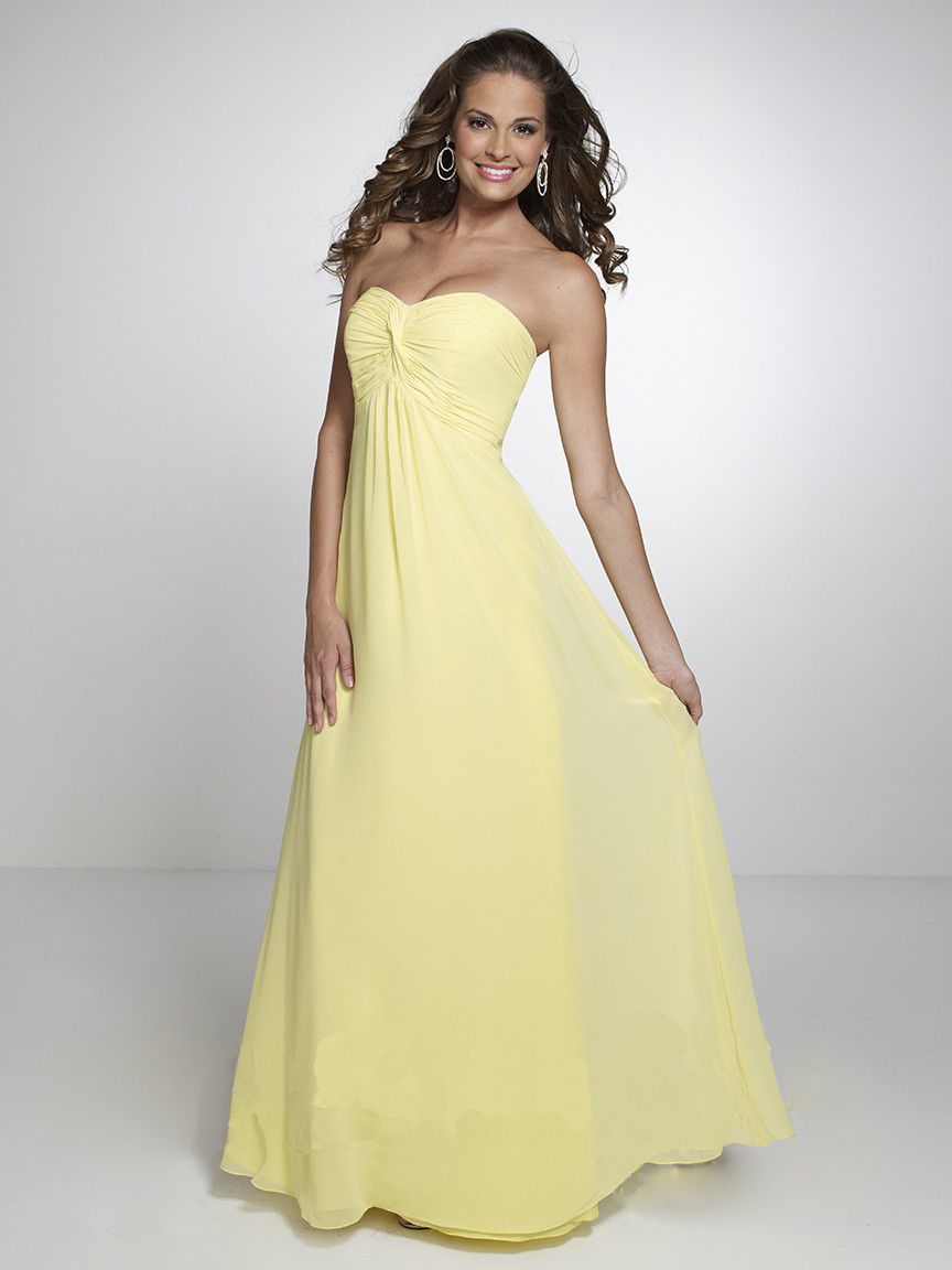 Popular Yellow Chiffon Bridesmaid Dresses-Buy Cheap Yellow Chiffon ...