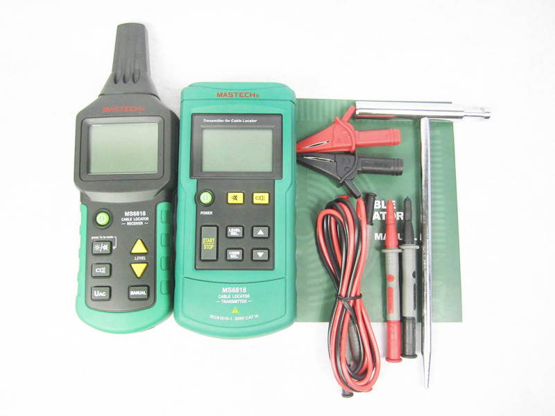Mastech MS6818 Wire Cable Tracker Metal Pipe Locator Detector Tester mastech ms6818 portable instruments professional cable locator wire tracker pipelines detector tester ac dc voltage 12 400v