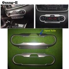 Для Kia Sorento L 2015 2016 2017 автомобиль лампа отделкой ABS Хром Передняя переключатель Кондиционер панели парковка frame громкость звука