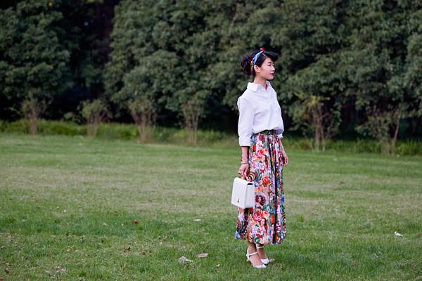 30 women vintage 50s pinup hawaii girl print swing long maxi skirt ... fc1bb390f7bc