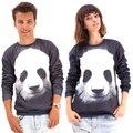 Raisevern 2016 mulheres / homens Pullovers o panda engraçado 3d camisolas animais galáxia suam Hoodies top