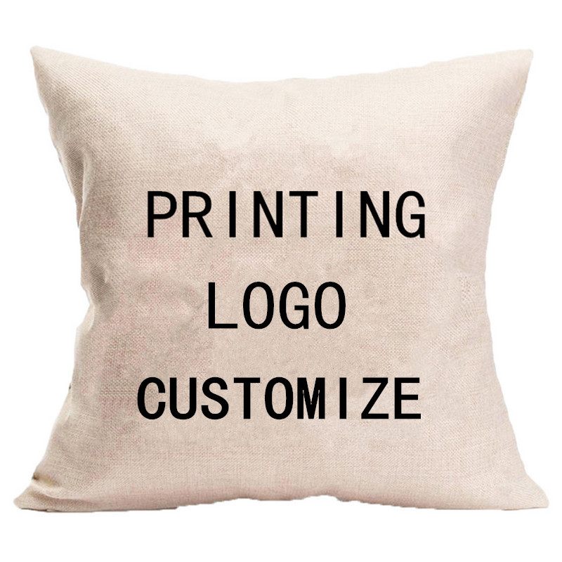 Индивидуальный заказ печать логотипа хлопок наволочка Подушка украсить диван кресло автомобиля подушки Чехол наволочки 50*50 см/60*60 см