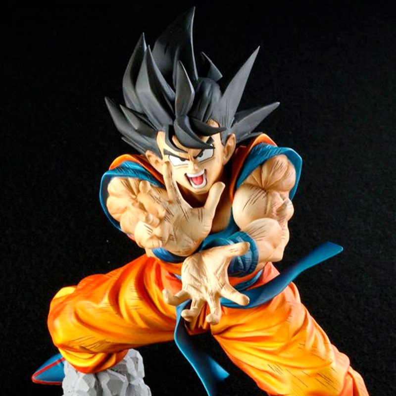 Anime Dragon Ball Z Son Goku Figures Shock Wave Super Saiyan Son Gokou Dragonball PVC Action Figure Model Toys Brinquedos 17CM anime dragon ball z son goku action figure super saiyan god blue hair goku 25cm dragonball collectible model toy doll figuras