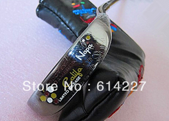 Free shipping men's scot napa limited golf putters come with golf headcovers